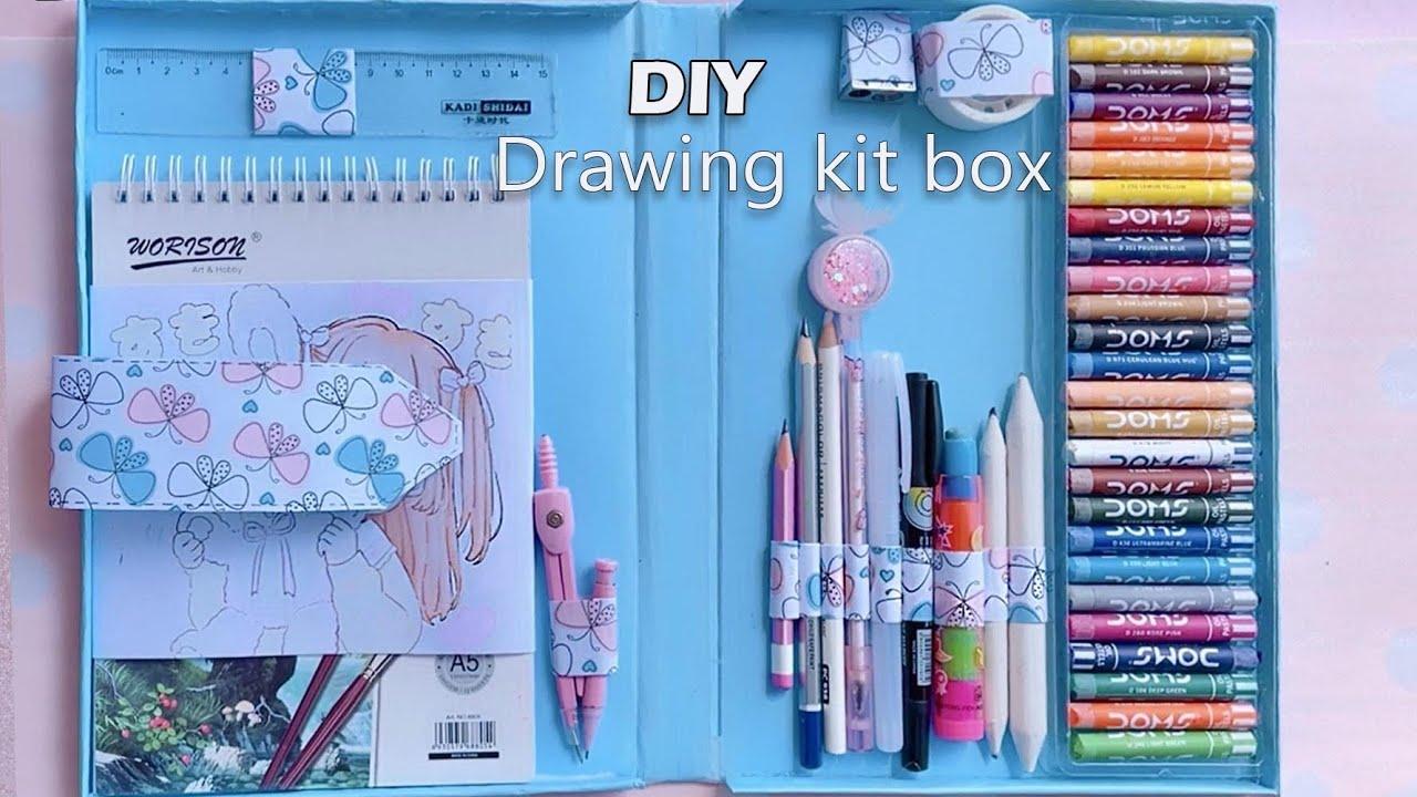 Let's make own Drawing kit box ||  #Creative  #Satisfying  #Shorts