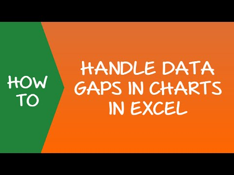 How to handle Data Gaps in Charts in Excel