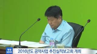 7월 1주_2016년도 주요사업 및 공약사업 추진실적보고회 개최 영상 썸네일