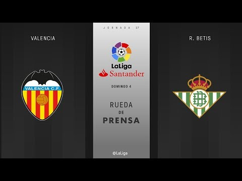 Rueda de prensa Valencia vs R. Betis
