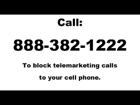 Block phone call - how to block cell phone marketing calls
