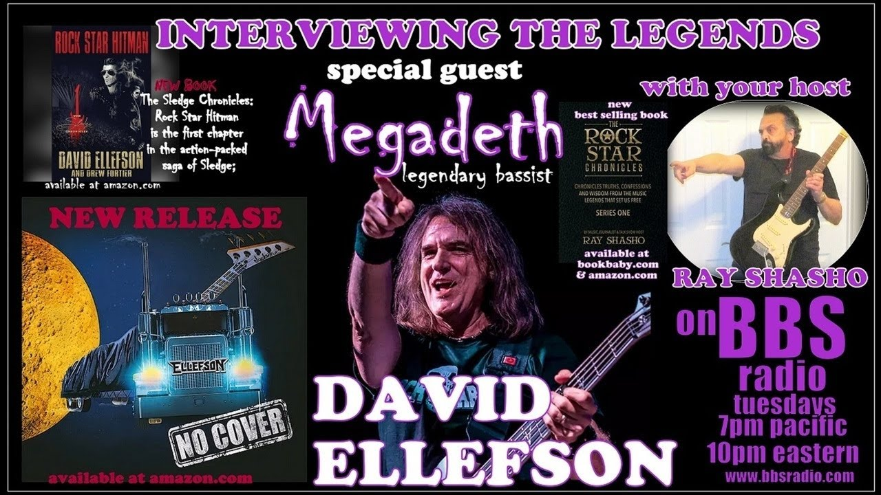 David Ellefson 'Megadeth' bassist releases 'No Cover' & 'Rock Star Hitm