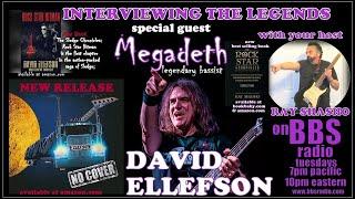 David Ellefson 'Megadeth' bassist releases 'No Cover' & 'Rock Star Hitman'