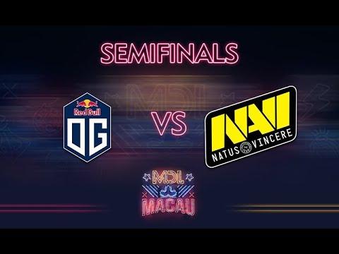 OG vs NaVi Game 1 - MDL Macau 2017: Semifinals - @LD @WinteR