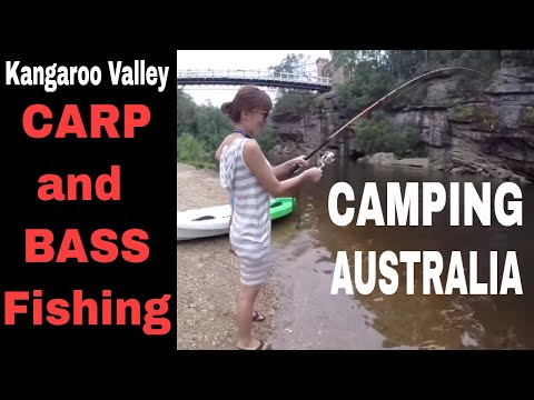 Kangaroo Valley camping - Bass on kayak and carp landbased