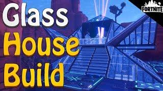 FORTNITE - Glass House Build Design And River Trap