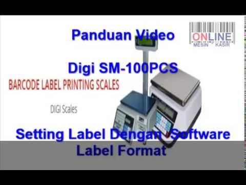 Digi SM100 Setting Label Dengan Label Format