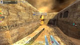 Quake Live, de_dust2, FFA with bots