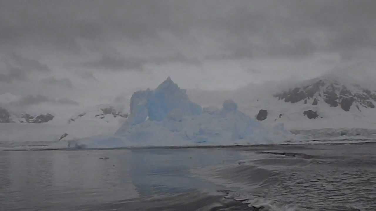 Exploding iceberg in Antarctica!