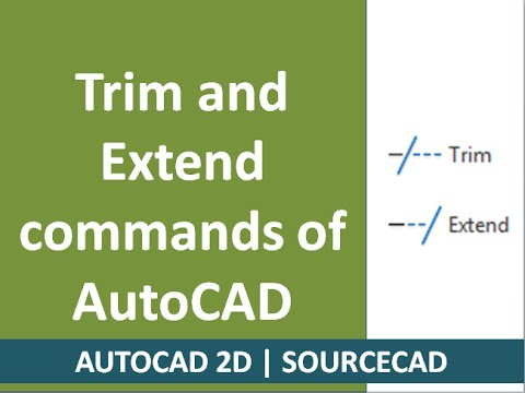 Trim and Extend commands of AutoCAD with all subcommands