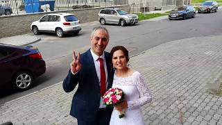Веселая встреча жениха и невесты 😍