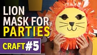 How To Make Animal Paper Plate Party Mask - DIY Art and Craft Ideas (Hindi Tutorials)