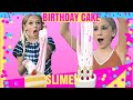DIY Birthday Cake Butter Slime | Giant Slime Smoothie | Quinn Sisters