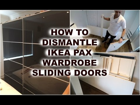 Ikea Pax Birkeland Garderobekast.Ikea Pax Wardrobe Dismantling Youtube