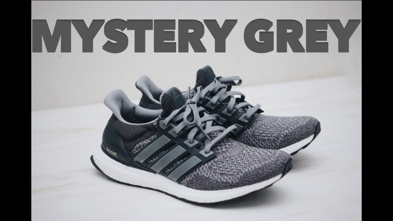 b7413b9a9f403 Adidas Ultra Boost Mystery Grey Review (ON FEET) - YouTube