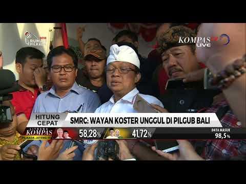 Hasil Hitung Cepat Pilkada Bali, Wayan Koster Unggul