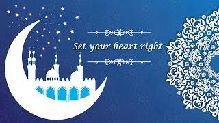 Set your heart right: Ramadan Tweets