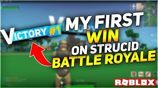 MY FIRST WIN IN STRUCID BATTLE ROYALE!😱ROBLOX *Victory Royale*