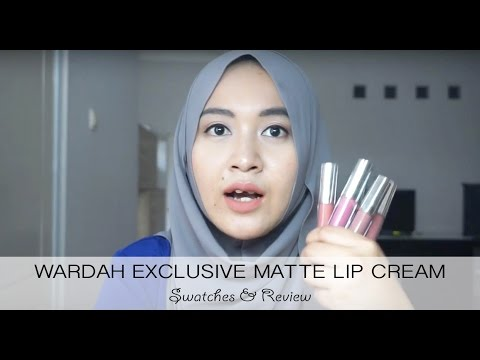 wardah-exclusive-matte-lip-cream-review-&-swatches-|-mia-fauzia-daily
