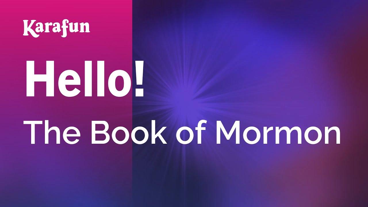 Book of mormon hello instrumental download