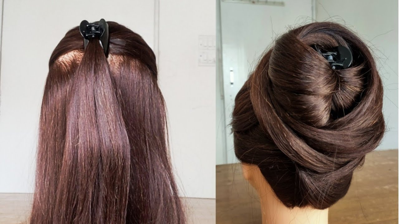 Easy juda hair'style with Trick    cluture juda hair'style   new hair'style   Beautiful Easy ...