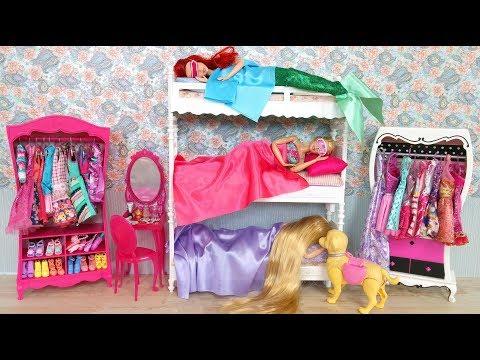 Barbie Rapunzel Little Mermaid Ariel Bunk Bed Morning Routine Breakfast at McDonalds