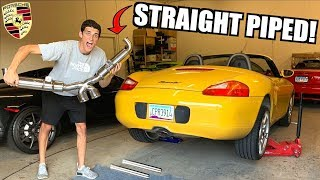 STRAIGHT PIPING My Budget Boxster!! (Sounds Like a Porsche GT3)