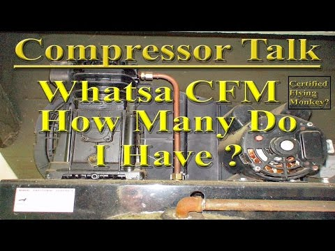 How to Calculate the CFM Output of a Compressor using the Ideal Gas Law.