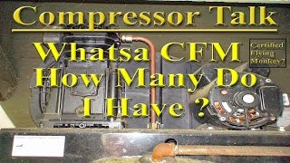 how to calculate the cfm output of a compressor using the ideal gas law