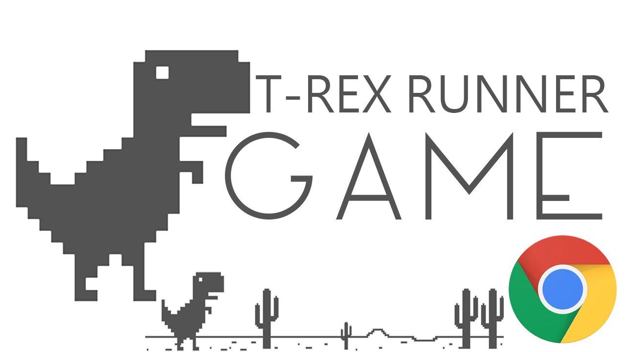 Chrome No Internet Dinosaur Jumping Game - YouTube