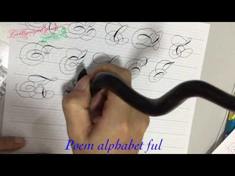 Poem script alphabet