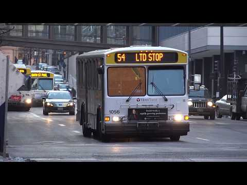 THE BUSES OF METRO TRANSIT IN ST PAUL MN