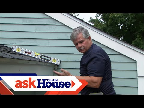 How To Install A Rain Gutter | Ask This Old House