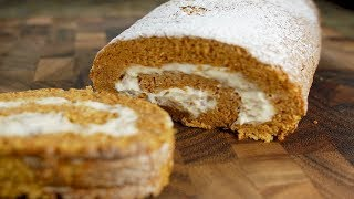 Pumpkin Roll Recipe Demonstration - Joyofbaking.com