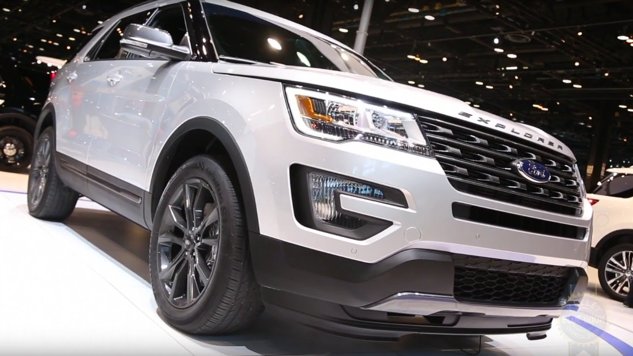 2017 ford explorer xlt sport pack 2016 chicago auto show youtube