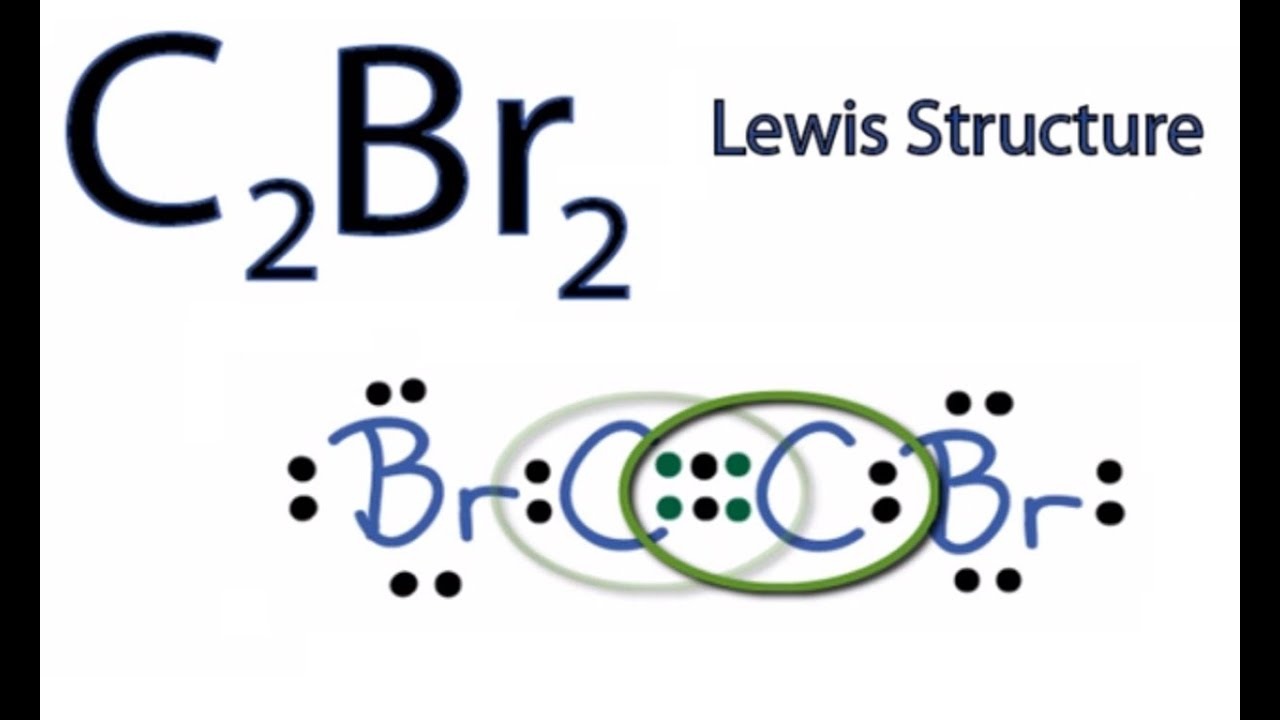 lewis diagram chbr3 c2br2 lewis structure: how to draw the lewis structure for ... #2