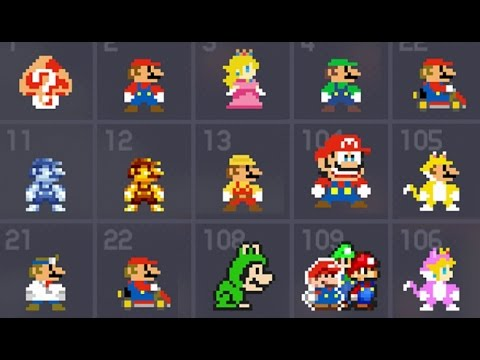 Thumbnail: Super Mario Maker - All 153 Costume Mario / Mystery Mushroom Suits