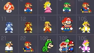 Super Mario Maker - All 153 Costume Mario / Mystery Mushroom Suits