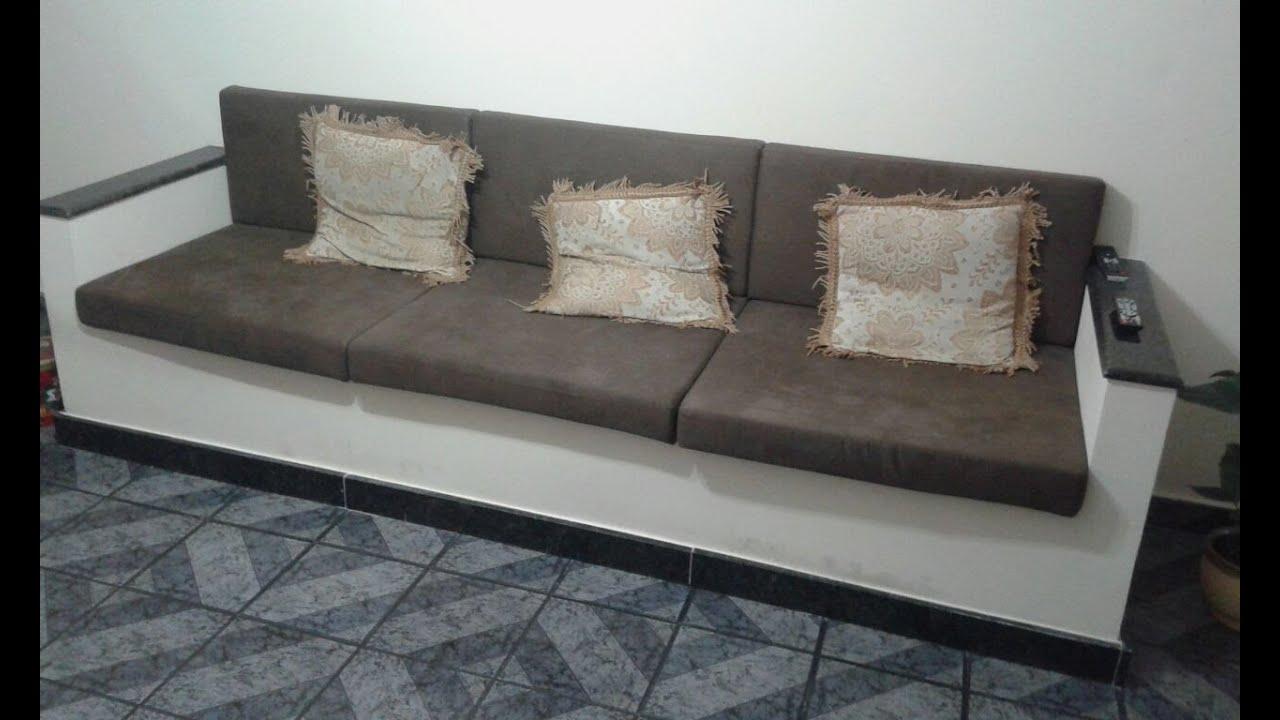 Sof alvenaria c medidas fa a voc mesmo youtube - Modelos de sofas ...