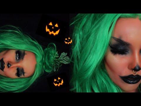 pumpkin girl halloween makeup tutorial - YouTube