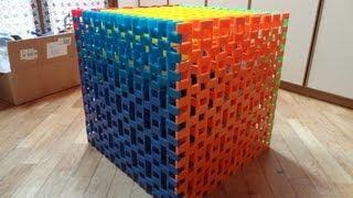 Domino day 2012 - Big Domino Cube 8x8 - 3200 Dominoes