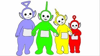Learn Colours For Children With Teletubbies Colouring Pages Nursery Rhymes