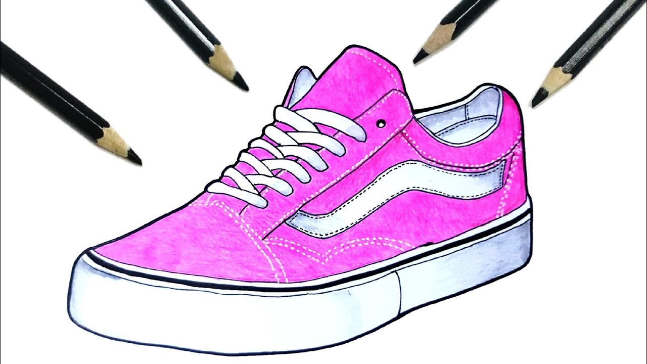 HOW TO DRAW VANS SHOES - YouTube