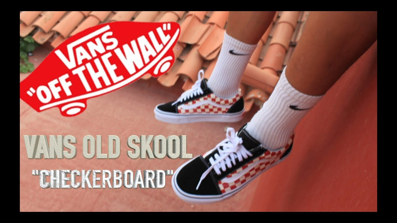 abbe1d13956 Vans Old Skool ( Checkerboard )On Feet Review   Unboxing (Pro) - YouTube