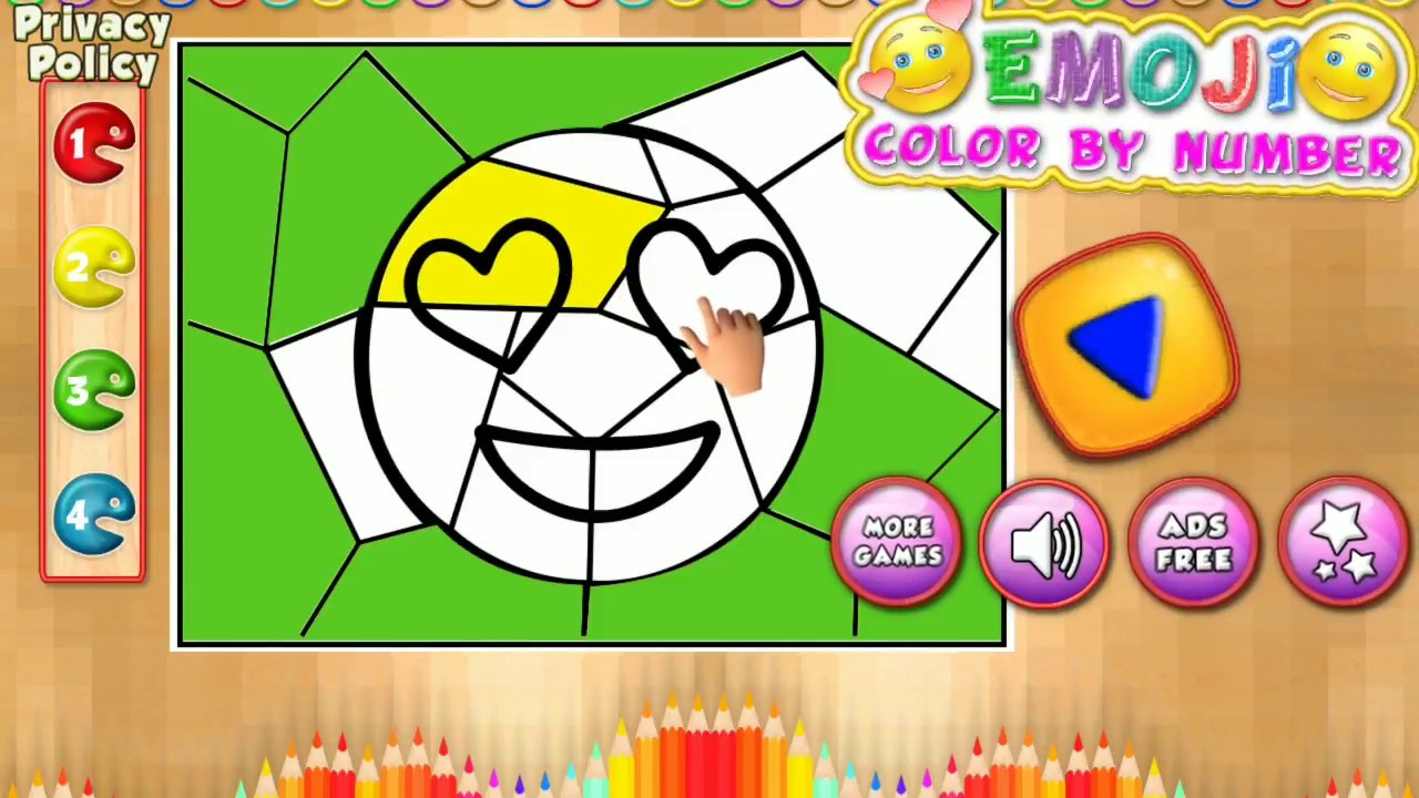 Emoji Color By Number Pixel Art Sandbox - YouTube