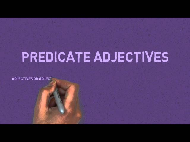 Subject Complements - Predicate Adjectives and Predicate Nominatives