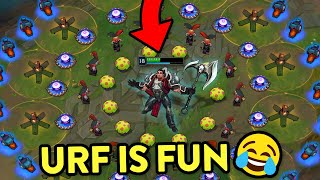 BEST URF FUN MOMENTS 2020 (Level 1 Trundle, Unkillable Morgana, Lucian Dodges...)