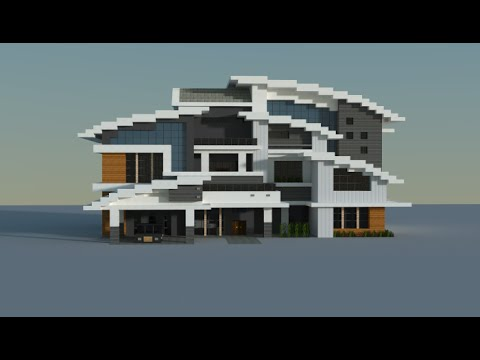 Minecraft modern house youtube for Modern house schematic