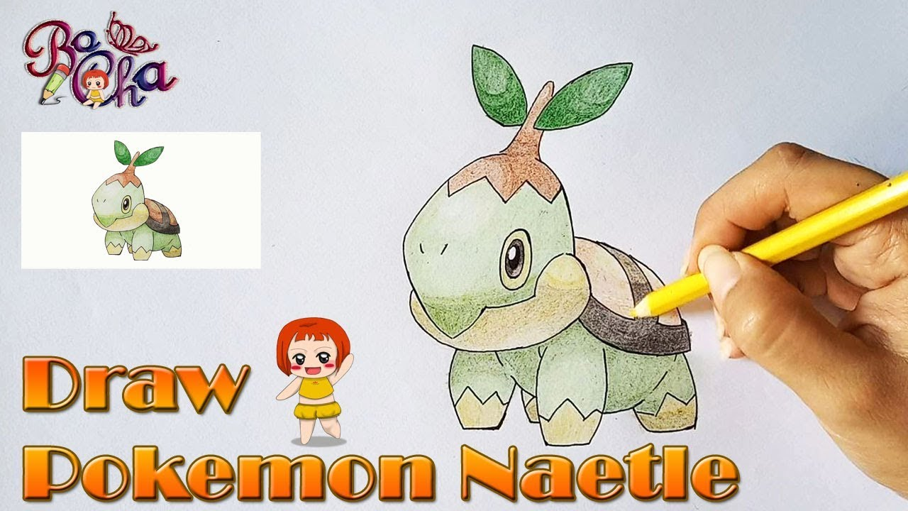 vẽ pokemon naetle (naetoru) – BoCha – How to draw pokemon naetle (naetoru)