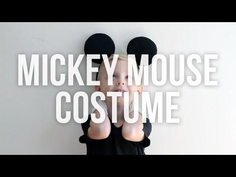 Disney Mickey Mouse Homemade Halloween Costume (No Sew)